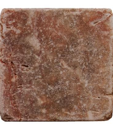 Taco travertino envejecido rojo 10x10x0 8cm ondacer s l for Marmol travertino rojo