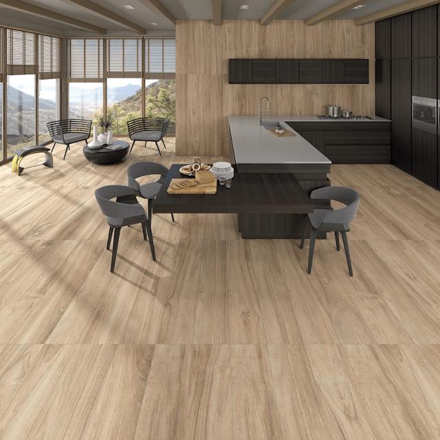 Imitation wood tiles