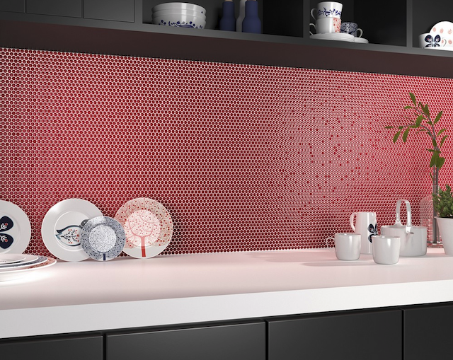mosaico dots red