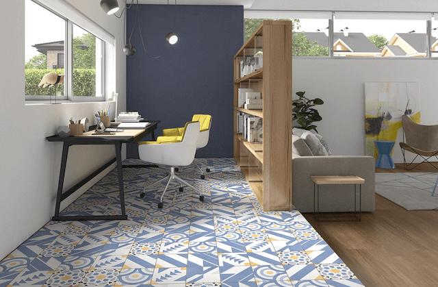 imitation mosaic tiles