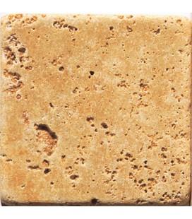 Taco Travertino Amarillo Envejecido 10x10x0,8cm.