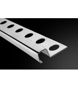 Perfil y Listelo Cuadrado Acero Basic 12-C 260cm.