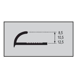 Perfil Classic 10,5 mm. Aluminio 260cm..
