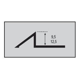 Nivel 9,5 mm. Aluminio 250cm.