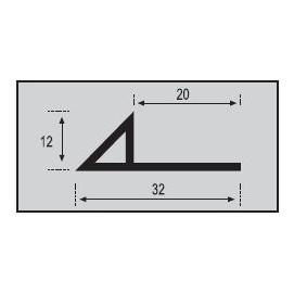 Perfil Bisel Aluminio 260cm.