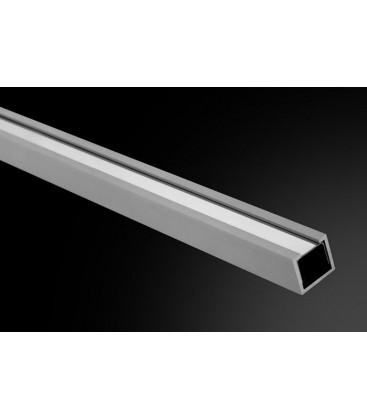 Listelo U-10 Lux Aluminio 250cm.