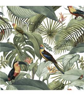 Mural Tropical1 20x20cm.