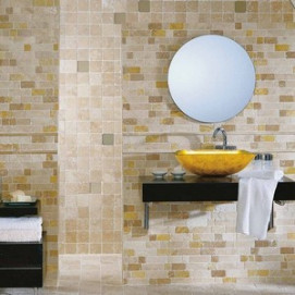 Mosaico Travertino Brick