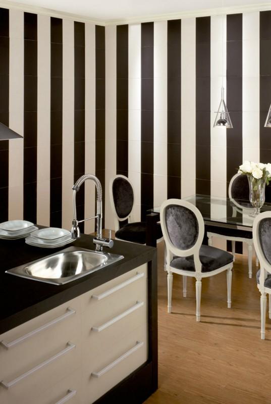 Comprar ceramica para cocinas del ambiente blanco negro for Comprar azulejos para cocina