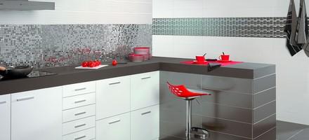 Buy Tiles Metalic Silver