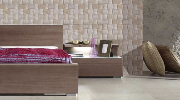 HEADBOARDS BED WITH TILES OR NATURAL STONE, A DIFFERENT IMAGE