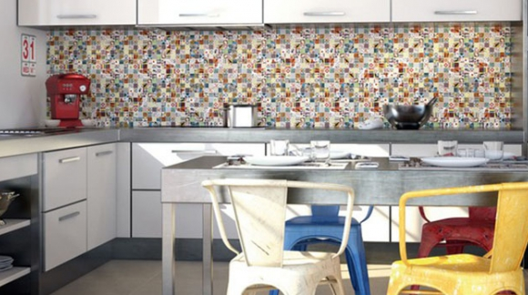 MOSAICS ON THE WALLS: A NOTE OF CHEERFULNESS AT HOME.