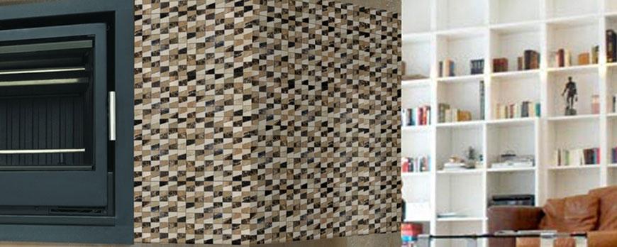 Las paredes con azulejo pero combinada con otros for Paredes con azulejo