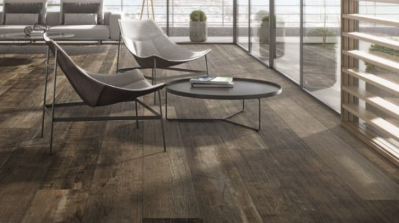 Porcelain floor tiles imitation wood