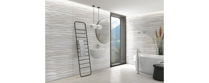Renovate your bathroom using embossed wall tiles