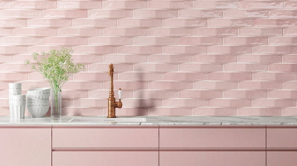 Tiles with pastel tones